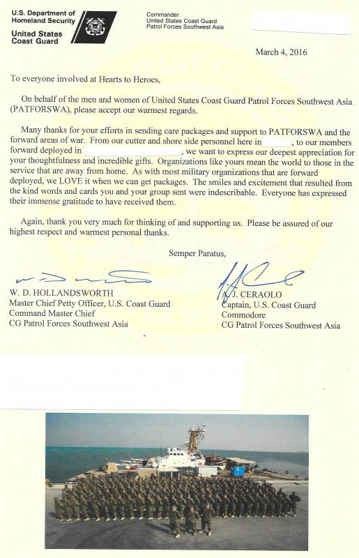 Coast Guard Certificate of Appreciation (1)